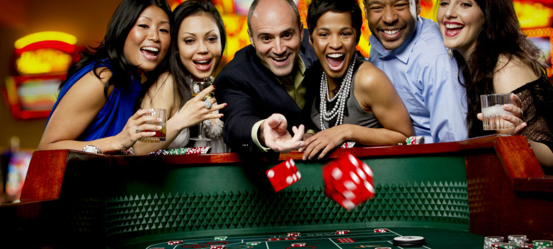 Gambling craps at a casino